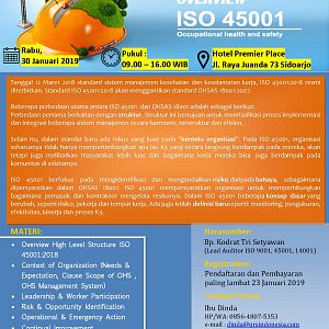 PUBLIC TRAINING OVERVIEW ISO 45001:2018